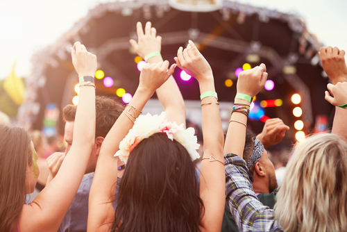 Photo of a safe summer music festival.