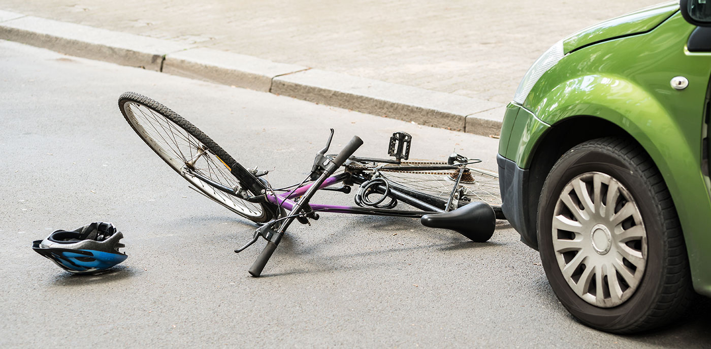 The scene of an accident being investigated by Bicycle Accident Attorneys in Peoria IL