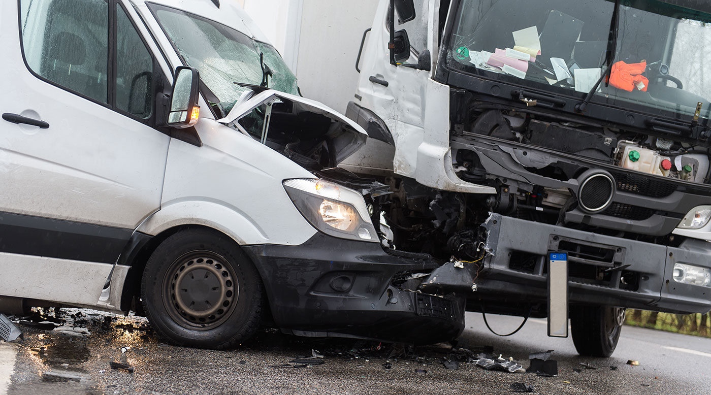 The scene of a severe truck collision, being investigated by Truck Accident Lawyers in Peoria IL