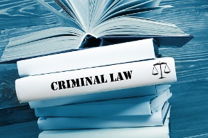 Criminal law books belonging to a Criminal Defense Attorney in East Peoria IL